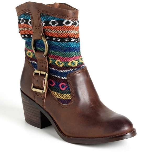 Lucky Brand Shoes - Lucky Brand Multicolor Boxer Style Booties